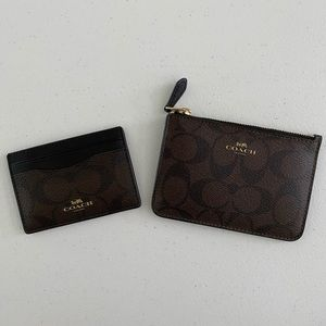 NWOT, Coach Coin purse and Credit/ID Cards Sleeve